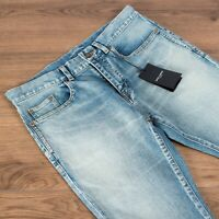 SAINT LAURENT 690$ Mid-Rise Skinny Jeans in Santa Monica Blue Stretch Denim