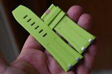 Rubber strap with 4 Steel plots Audemars Piguet Royal Oak Diver Green