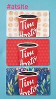 3 Tim Hortons CANADA 2019 TIM HORTONS Gift Card New MINT