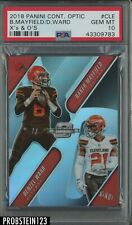 2018 Panini Contenders Optic X's & O's #Cle B.Mayfield/D.Ward PSA 10 POP 1