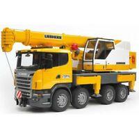 Bruder Scania R-Serie Liebherr Kran-LKW mit Light&Sound 3570 Baustellenfahrzeug