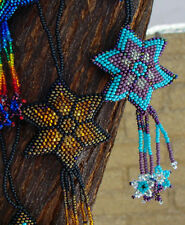 Star Christmas Ornament Purple Handmade Shooting