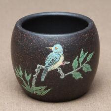 authentic yixing zisha tea cup black galaxy clay cup marked handmade teacup 50ml