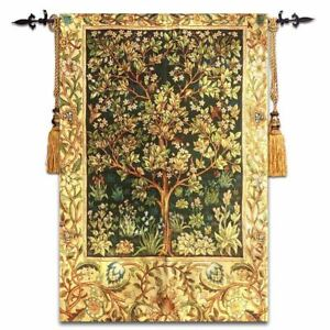 """jacquard tapestry fabric wall decoration painting William Morris """"Tree of Life"""""""