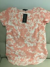 New Look Printed Long Blouse Size 10 Pink White