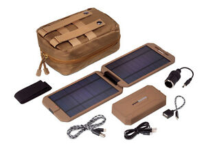 Powertraveller Extreme Tactical Solar Charger Full Kit with MOLLE Coyote Brown