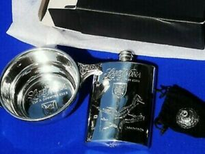 LAKE NONA GOLF & COUNTRY CLUB Sheffield Pewter Hip Flask Golf ball Funnel