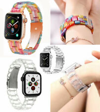 Resin Wrist Watch Band iWatch Strap Bracelet For Apple Watch Series 5 4 3 2 1 6
