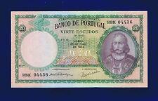 Portugal Banknotes  20 Escudos  1954  Pic153A  x-fine +