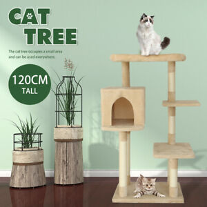 Cat Pet Tree Scratching Condo Trees House Post Scratcher Tower Furniture 4H0D