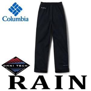 YOUTH COLUMBIA PARKER POND PANTS TRAIL ADVENTURE WATERPROOF RAIN PANTS OMNI-TECH