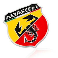1x 3D Metal Scorpion Adhesive Badge Emblem Decal Sticker For Abarth
