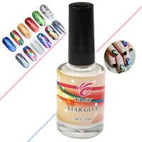 Pro Nail Art Glue for Foil Sticker Nail Transfer Tips Adhesive 15ml Star Nail