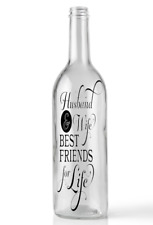 Wine Bottle Sticker Husband and wife best friends for life vinyl decal