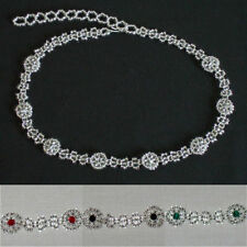 Crystal Glass Round Choker Costume Necklaces & Pendants
