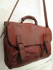 -AUTHENTIQUE cartable   made in Italy cuir (T)BEG  bag A4