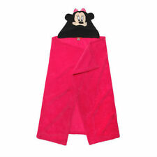 DISNEY cape de bain à capuche polaire / plaid MINNIE rose  80 x 120 cm NEUF