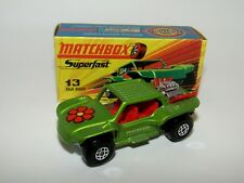 Matchbox Superfast No 13 Baja Buggy RED Flower, RED Seats MIB RARE