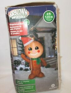 Airblown Inflatable Gingerbread Man Christmas 4ft Yard