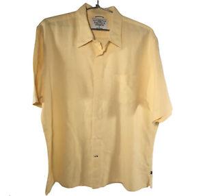 NAUTICA Shirt 55% Linen 45% Cotton Yellow Size L