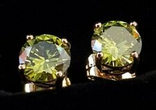 women's 18k yellow gold filled peridot suds earrings