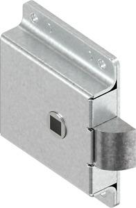 Federriegel Verschlussriegel Türriegel Fallenschloss Vierkant 8mm Stahl 1C34-U01