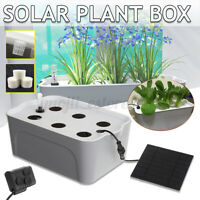 6 Holes Soilless Culture Solar Hydroponic Grow Box Vegetable Planting Water Pump