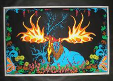 Vintage FOREST FANTASY  blacklight poster Nude psychedelic original 23x35 NOS