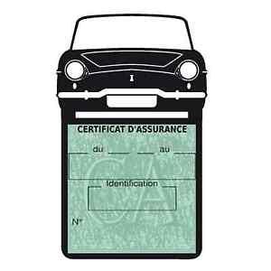 Porte vignette assurance RENAULT CARAVELLE étui voiture Stickers auto rétro