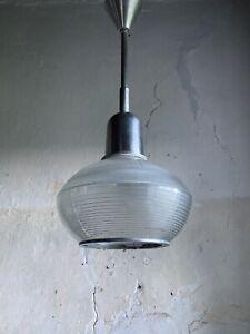 Mid Century Modernist French Holophane Ceiling Light - 1950s.