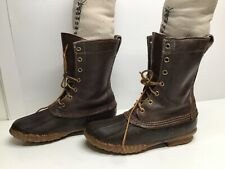 VTG WOMENS L.L. BEAN BY MAINE HUNTING BROWN BOOTS SIZE 6