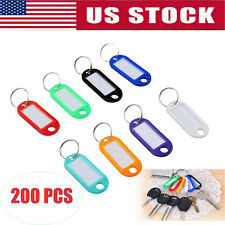 NEW 12 PC COLOR CODED KEY RINGS LABELS MULTIPLE LOCKS LUGGAGE TAGS