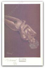 Ex-libris Renaud Jessica Blandy Nue Bras Croisés 350ex Signé 15,9x24,6 cm