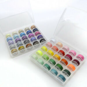 50 Color Sewing Machine Bobbins Thread Spools Case With Box for Sewing Machine