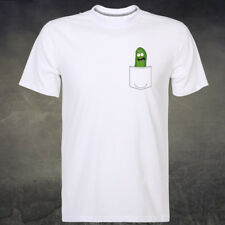 Pickle Rick In My Pocket Logo Rick and Morty Funny Man's Short Sleeve Tee Tshirt