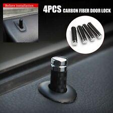 Carbon Door Lock Stick Pin Cap Cover Trim Fit For BMW Mercedes Benz Universal