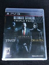 Ultimate Stealth Triple Pack (Sony PlayStation 3, 2015) Used