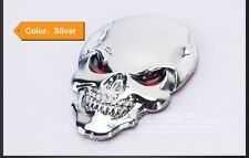 Autoaufkleber Metall Totenkopf PKW Styling silber