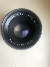 Carl Zeiss Jena BIOTAR Lens f/2 58mm Silver 10-BLADES around 1957 Exacta mount