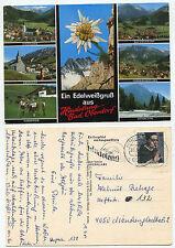 27570 - Hindelang-Bad Oberdorf - AK, doppelt gestempelt Hindelang und M'Gladbach