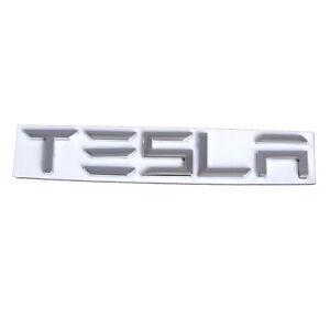 Chrome 3D TESLA Letters Car Trunk Lid Emblem Nameplate for Tesla Model S X Y 3