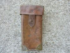 WWII French Brown Leather Magazine or Optics Pouch