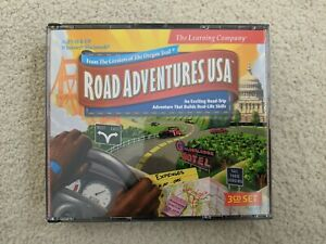 Road Adventures USA CD-ROM video game: 3-disc set, road trip learning game 1999