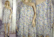 Geblümte knielange Damenkleider aus Chiffon