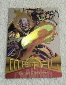 """1995 Fleer Marvel Metal Flasher #46 """"Ghost Rider 2099"""" NM"""