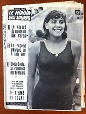 Miroir des sports 15/06/1964; Le record du monde de Kiki Caron/ Coupe Davis