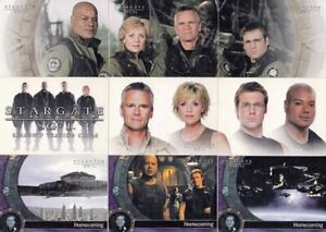 RITTENHOUSE - STARGATE SG-1 SEASON 7 COMPLETE BASE CARD SET IN POCKET PAGES
