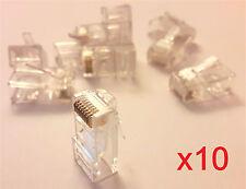 10x fiche RJ45 à sertir cable réseau Ethernet