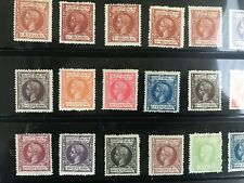 PHILIPPINES FILIPINAS 1898 KING ALFONSO XIII 20 values COMPLETE SET MINT HINGED