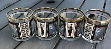 Set of 4 Roaring Twenties Silent Movie Stars Whiskey Dbl Old Fashioned Glasses